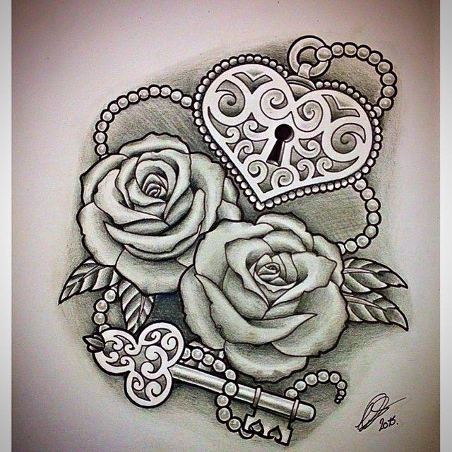 640x640 Roses With Heart Shaped Lock Amp Key By @leepawleytattooartist Via