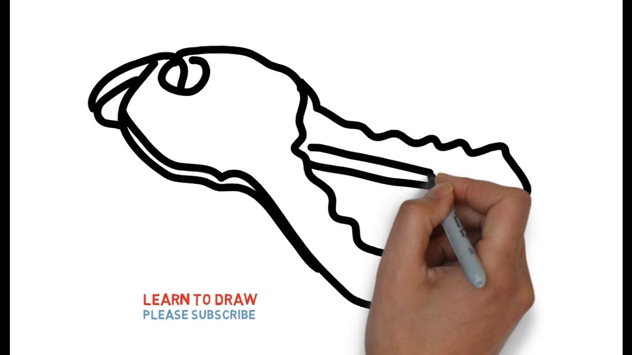 1280x720 Easy Step For Kids How To Draw The Key
