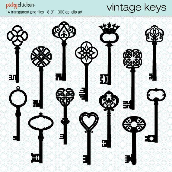 570x570 Attractive Black Ink Keys Tattoo Flash