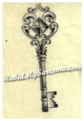 278x400 Key Tattoo Design By Jacksonmstattoo
