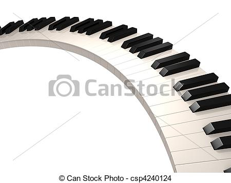 450x357 Piano Keys 3d Rendered Illustration Of Black And White
