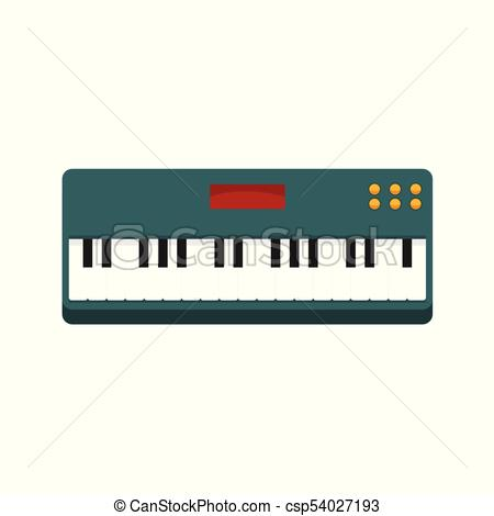 450x470 Simple Keyboard Piano Vector Illustration Graphic Design Eps