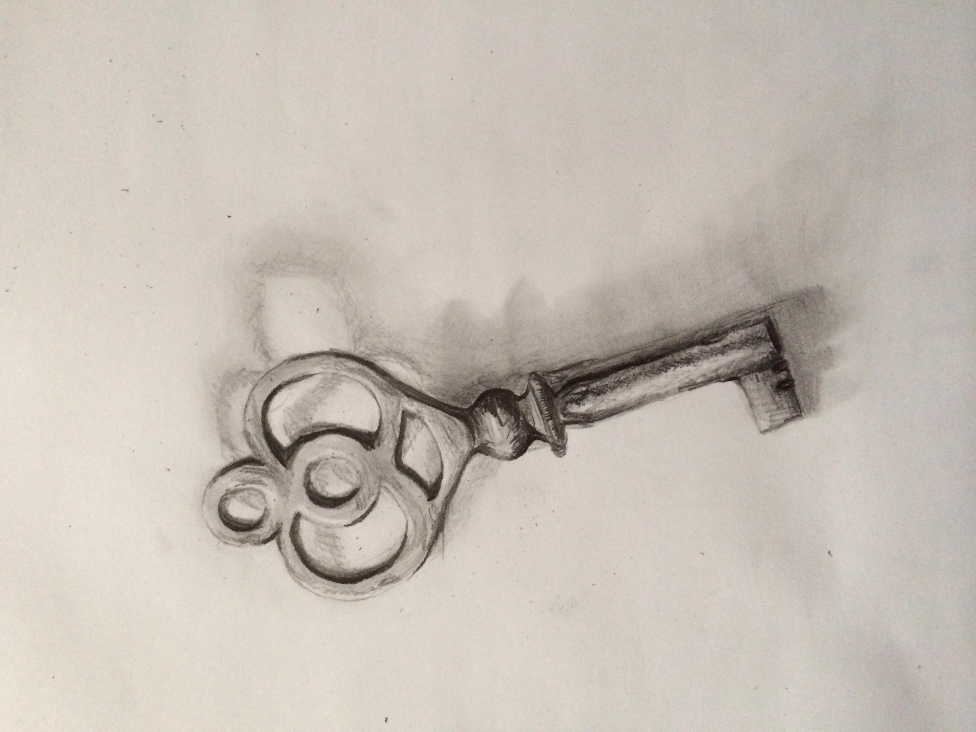 3264x2448 Pencil Drawing Of A Key My Art Art Drawings