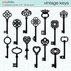 236x236 Set Of Vintage Key Drawings Key Drawings, Drawings And Key