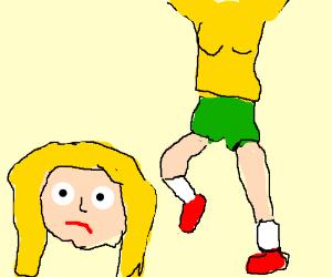300x250 Girl Uses Her Sister As A Kickball