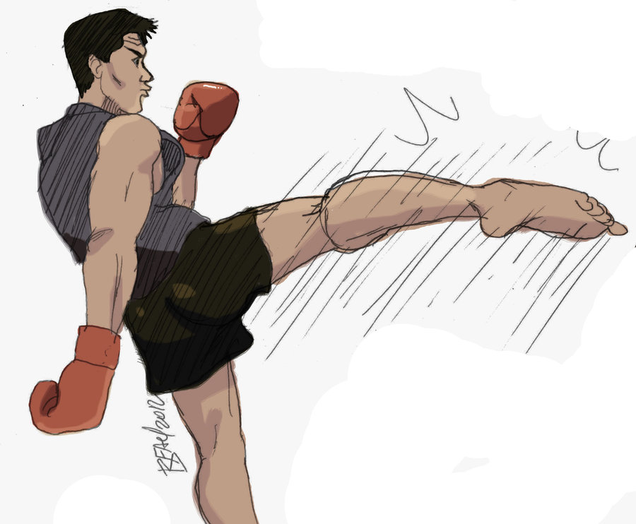 900x742 Kickboxing Guy By Bleyerart