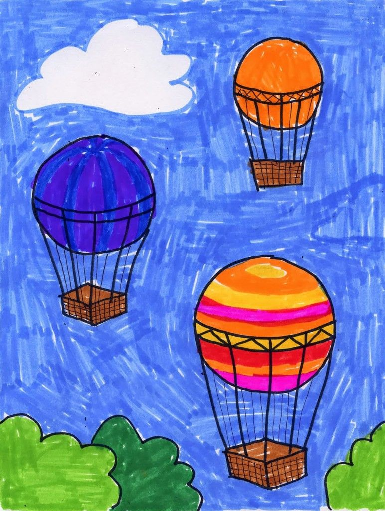 772x1024 Hot Air Balloon Drawing Hot Air Balloons, Air Balloon And Middle