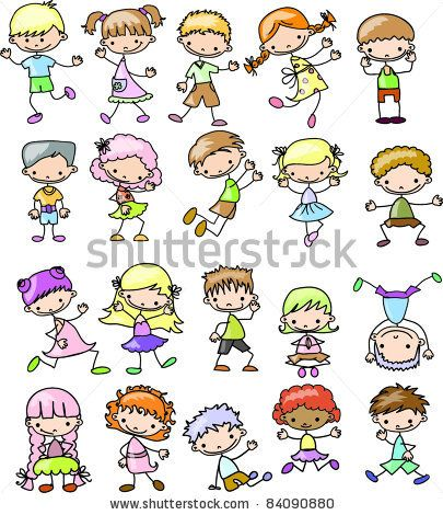 405x470 Stock Vector Cartoon Drawings Of Children Draw People