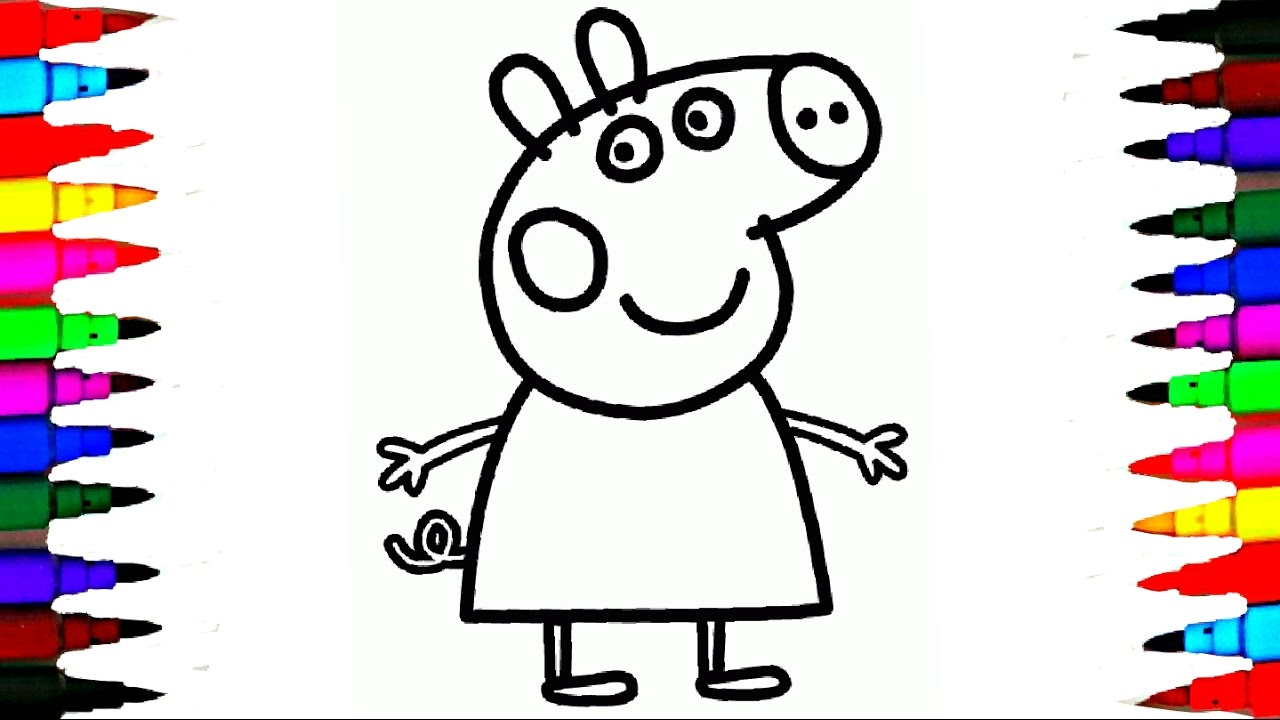 1280x720 Coloring Peppa Pig Drawing Pages L Coloring Book Videos