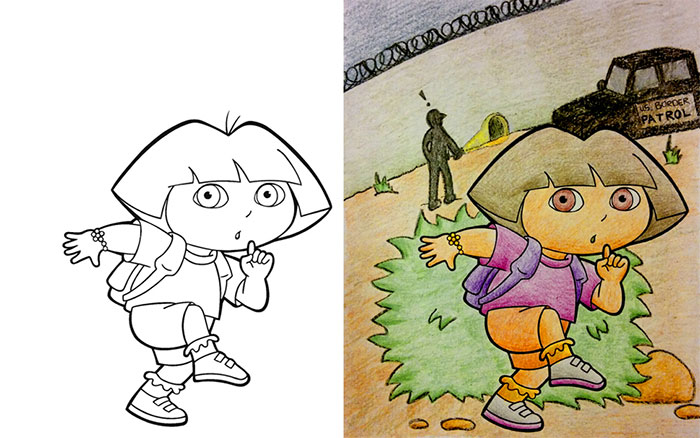 700x438 Times Adults Did Coloring Books For Kids, And The Result Was
