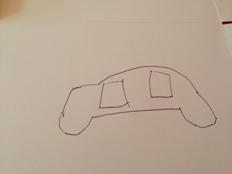 800x600 3d Cardboard Car