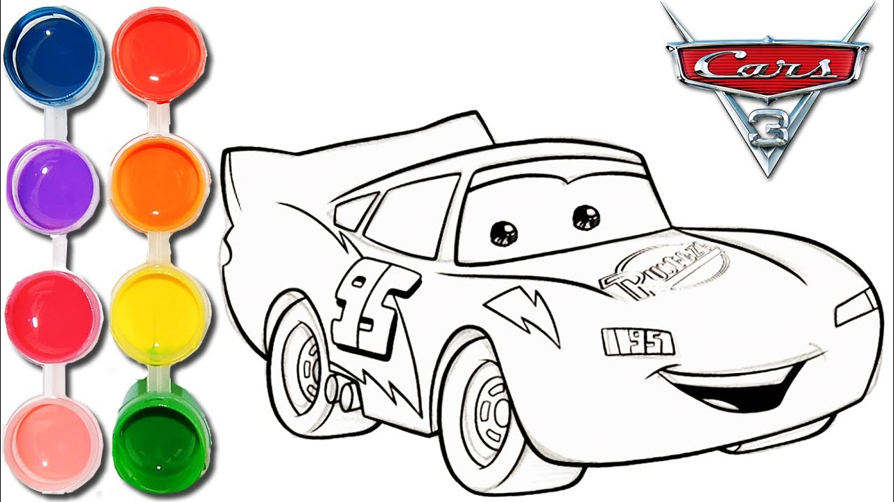 1280x720 How To Draw Amp Color Cars 3 Lightning Mcqueen Kids Drawing