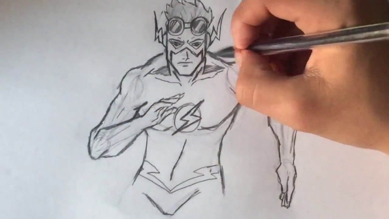 1280x720 How To Draw Kid Flash