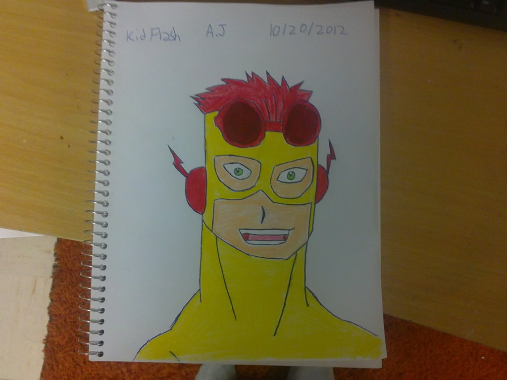 1024x768 Kid Flash Drawing By Superxmen1980