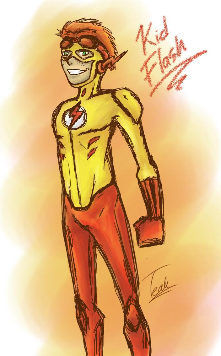 704x1134 Kid Flash Sketch By Foxyteah