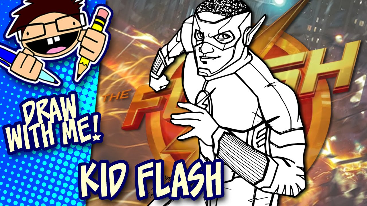1280x720 Let's Draw Kid Flash (The Flash Tv Series) Drawing Guide
