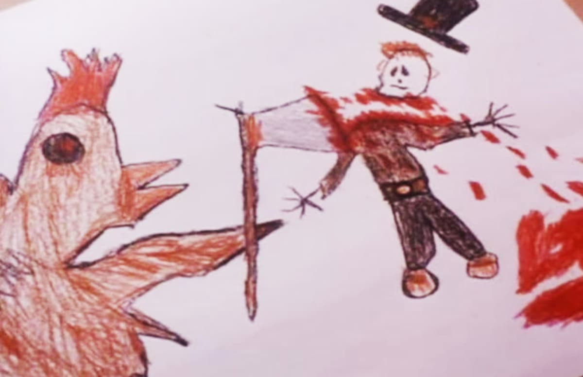 1200x776 The 15 Most Fcked Up Kid Drawings In Horror Movies Complex