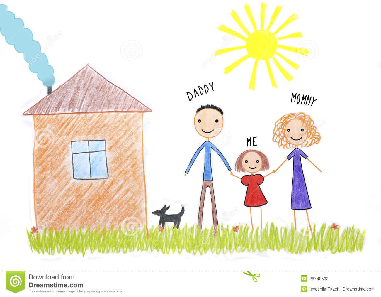 1300x1012 Kid Family Drawing