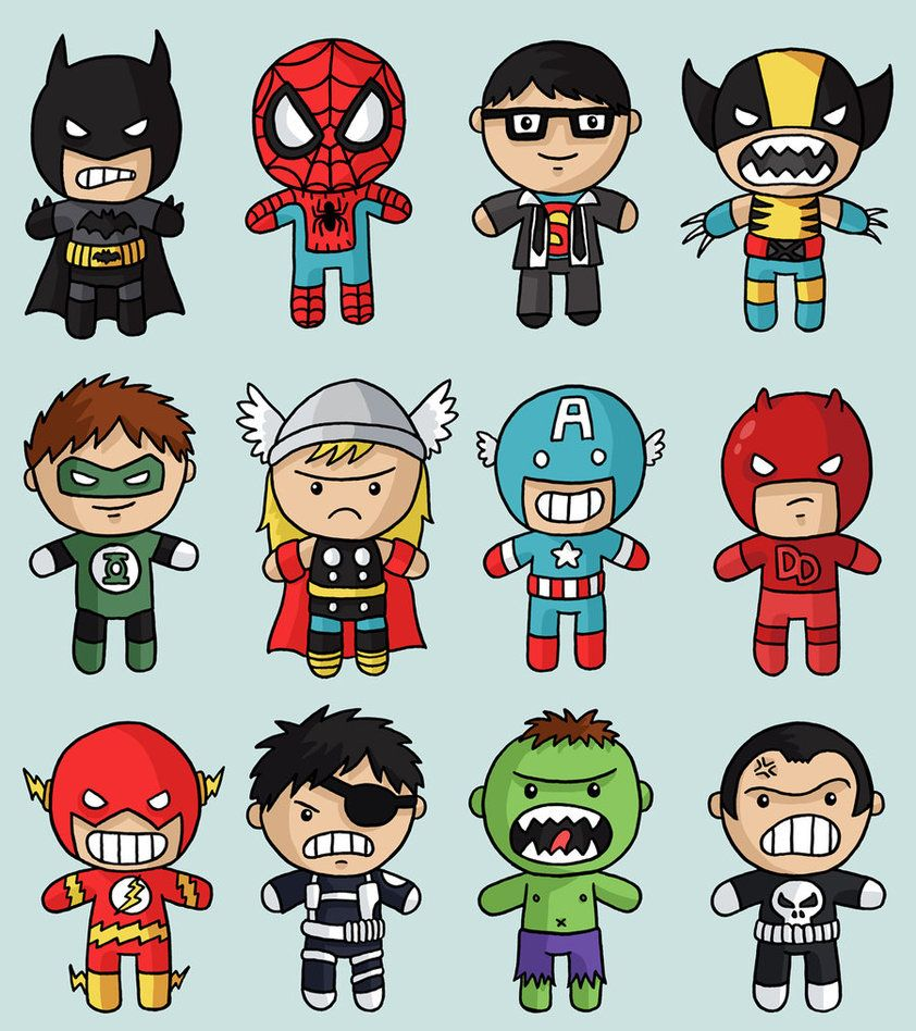 842x948 How To Draw Chibi Superheroes