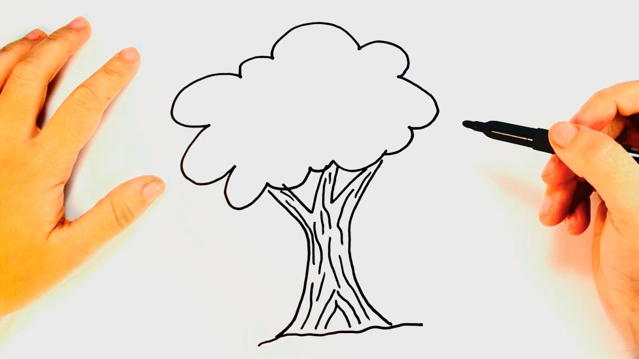 1280x720 How To Draw A Tree For Kids Tree Drawing Lesson Step By Step