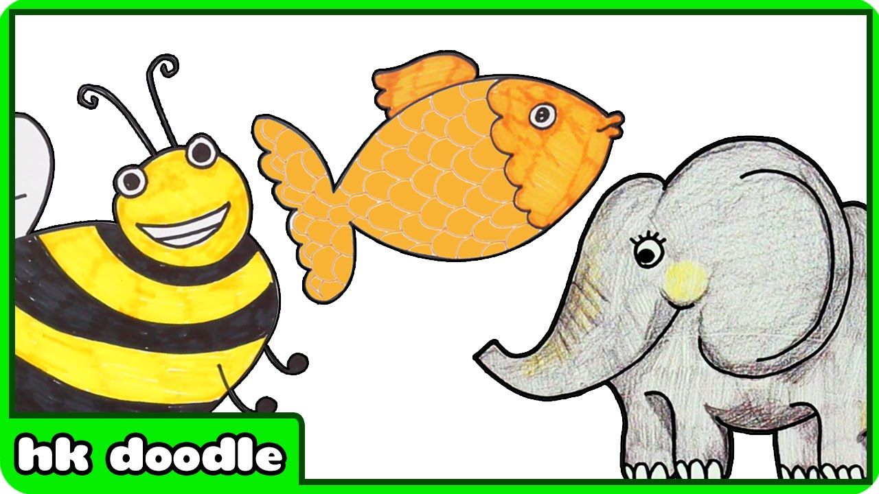 1280x720 10 Easy Animal Drawings For Kids Vol. 1 Step By Step Drawing