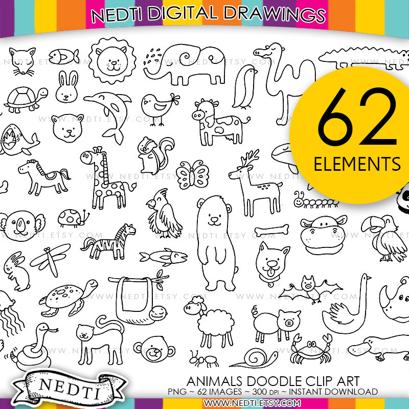 800x800 Animals Drawings Hand Drawn Clip Art, Png Clipart, Lineart, Line