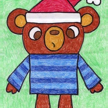 365x365 Draw A Teddy Drawing Kindergarten Art And Diy