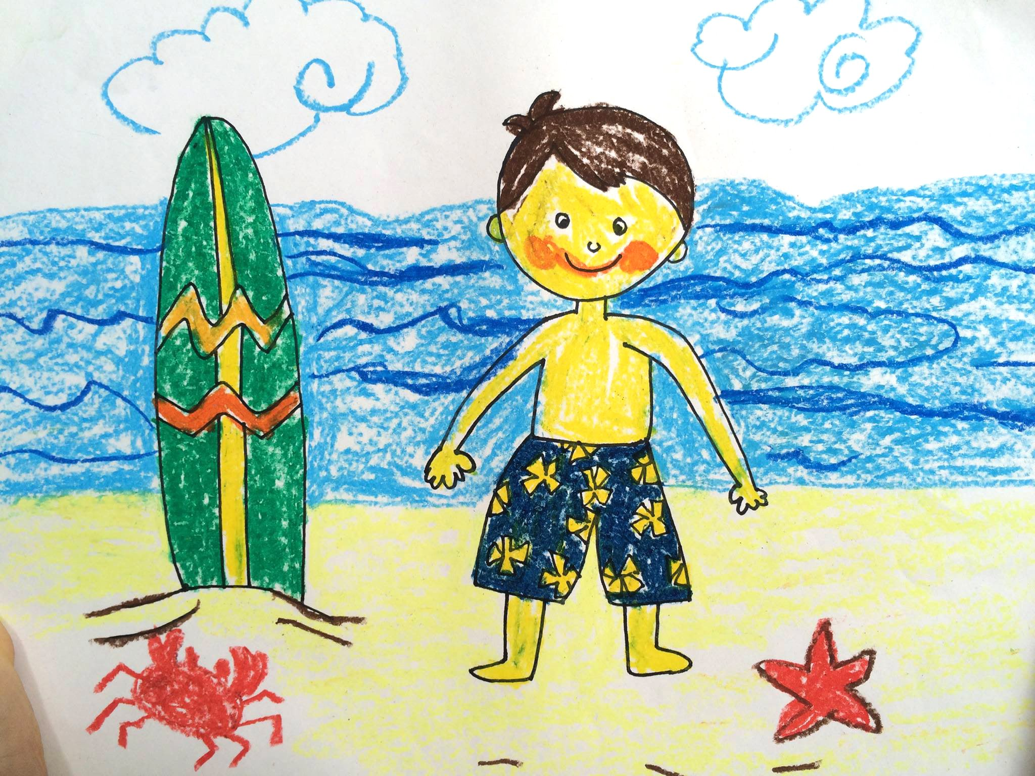 2048x1536 Painting Summer For Kids How To Draw Tutorial Beach Sunset
