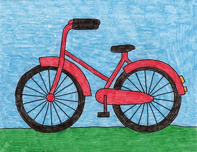 650x502 How to Draw a Bike