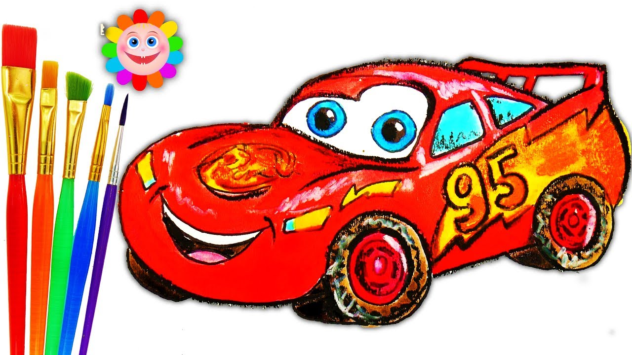 1280x720 Coloring For Childrens Mcqueen Car How To Draw Disney Cars