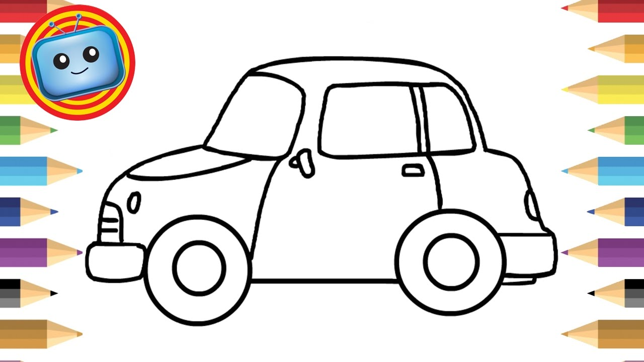 1280x720 How To Draw A Car For Kids Simple Drawing Game Animation
