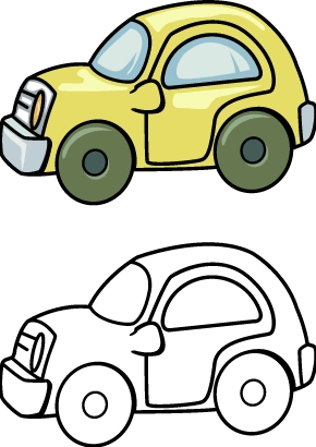290x410 Toy Car Coloring Pages Printables For Kids Crafts Pinterest