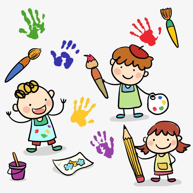 650x651 3 Cartoon Drawing Children Vector Material, 3 Cartoon Drawing