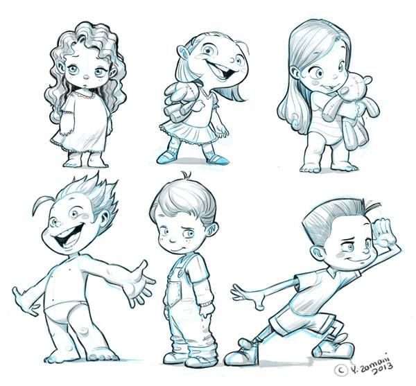 600x557 Kid Cartoon Drawing Coloring Pages Amp Cliparts