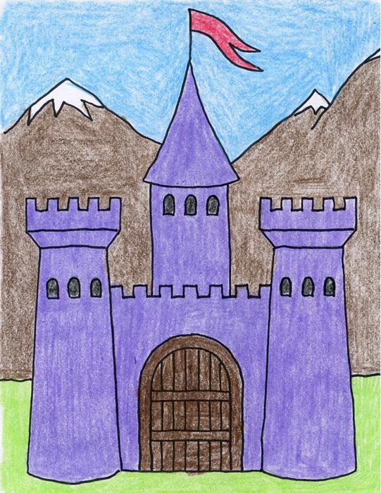 541x700 Draw A Midieval Castle