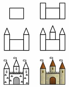 236x295 Drawing A Cartoon Castle Castles, Drawings And Doodles