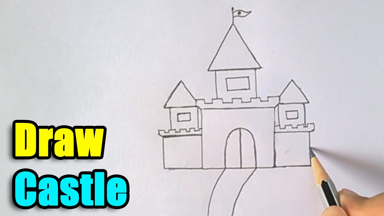 1280x720 How To Draw Castle For Kids
