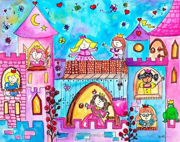700x555 Princess Hall Castle Wall Mural