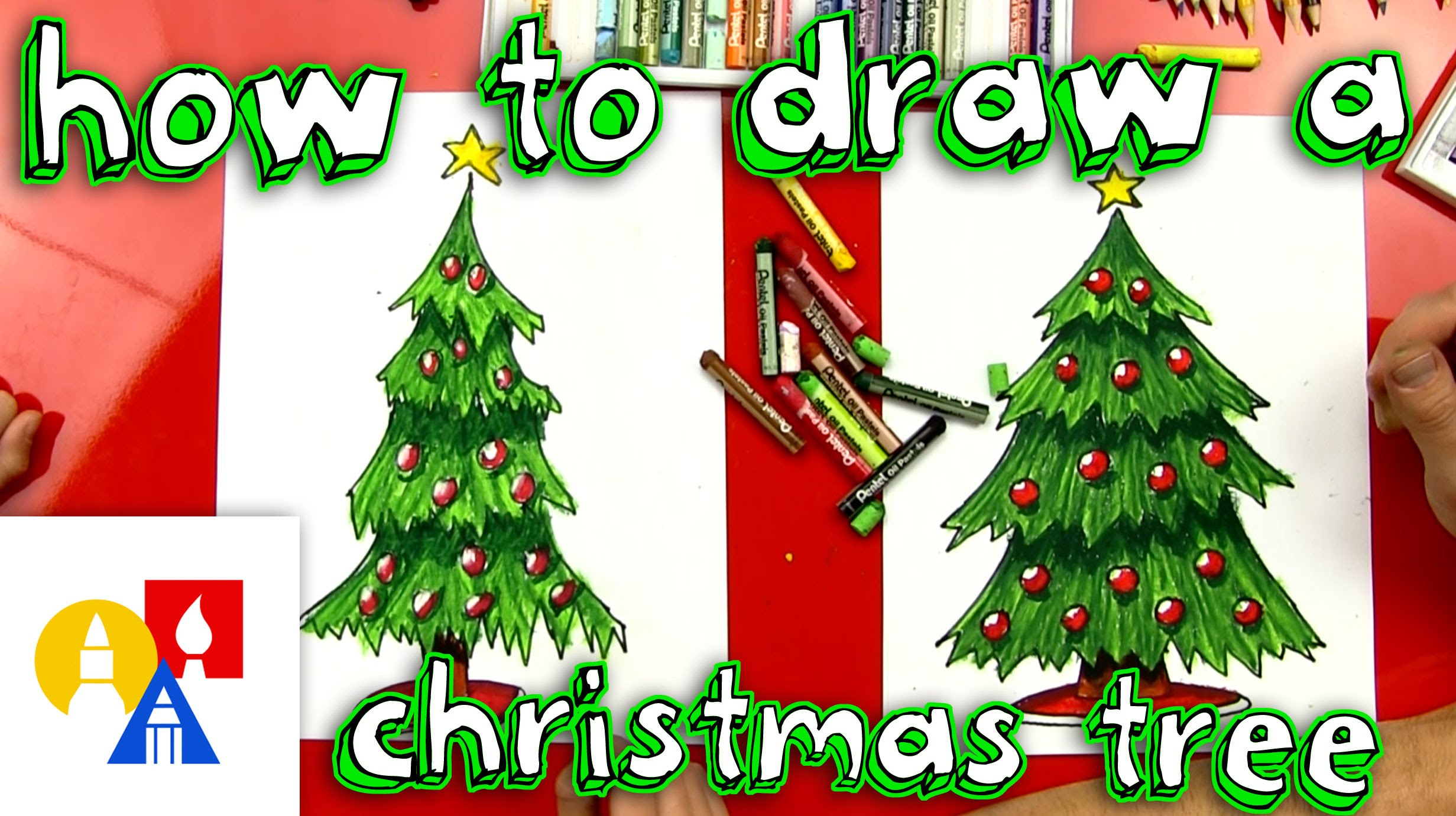 2463x1381 How To Draw A Christmas Tree