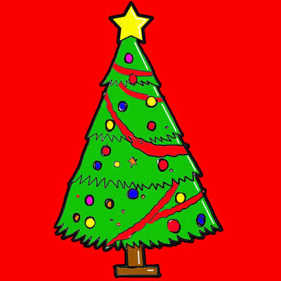 400x400 Steps To Drawing A Cartoon Christmas Tree Lesson For The Holidays