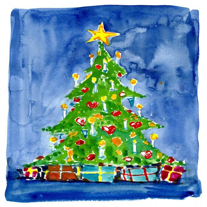 680x680 Christmas Tree. People. Drawings. Pictures. Drawings Ideas