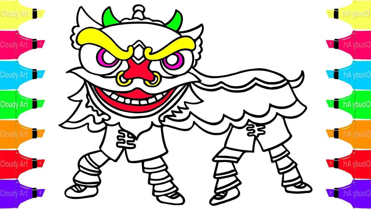 1280x720 How To Draw Lion Dance