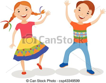 450x353 Illustration Featuring Dancing Kids. Dancing Of Little Eps