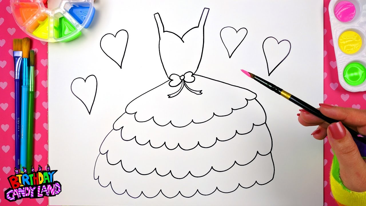 1280x720 Drawing For Kids To Learn How To Color, Draw And Paint A Pretty