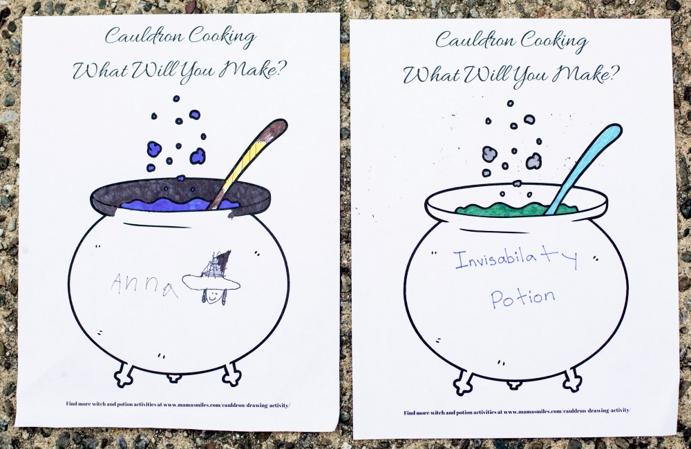 1000x651 Broom And Cauldron Drawing Activity For Room On The Broom