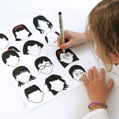 400x400 Drawing Faces Printable {Kids Activity Pages} Tip Junkie