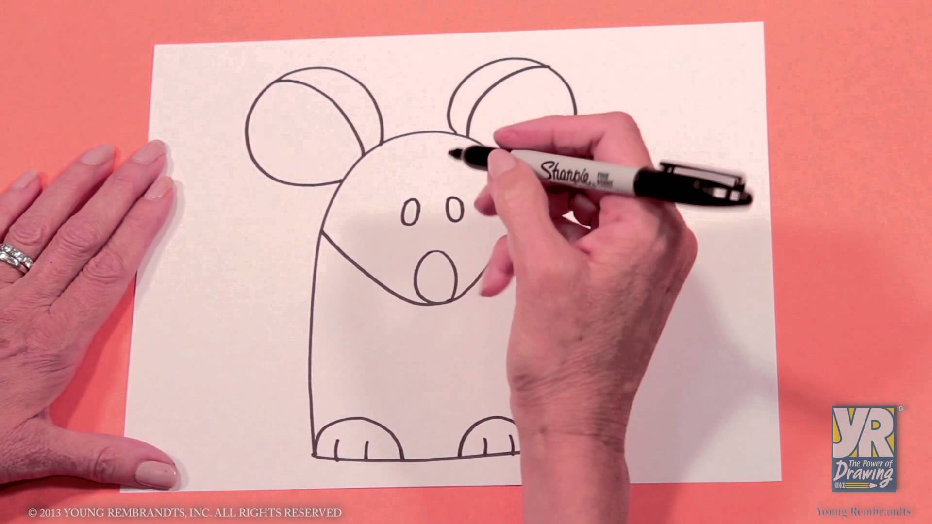 1920x1080 Kids Drawing Activity How To Draw A Mouse