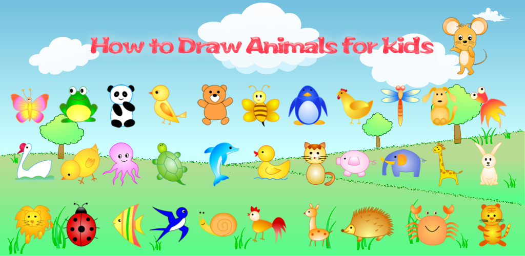 1024x500 How To Draw Animals For Kids Appstore For Android