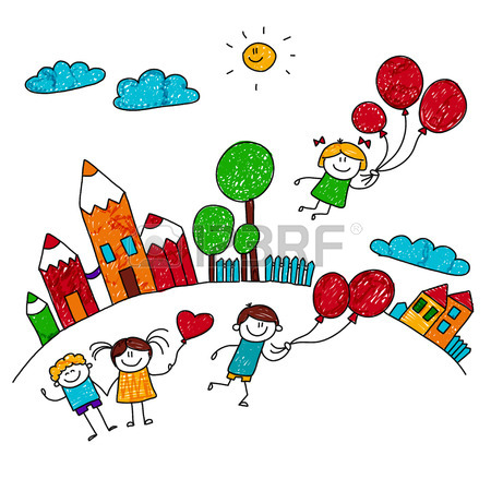 450x450 197,908 Kids Drawing Stock Vector Illustration And Royalty Free