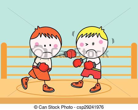 450x357 Boxing Kids Vectors Illustration